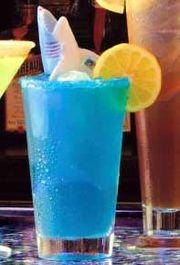 Blue summer koktel