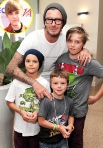 Dejvid Bekam sa sinovima