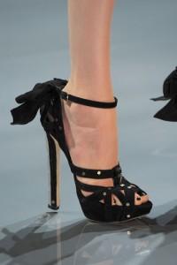 Elegantne Dior crne sandale