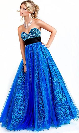 Plava maturska haljina
