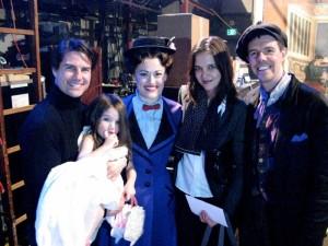 Tom Kruz, Kejti Homs i Suri sa Meri Popins