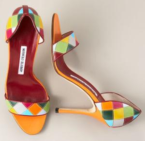 Šarene Manolo Blahnik potpetice