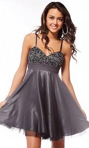 Maturska haljina u sivoj boji