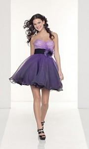 Kraća maturska haljina ljubičaste boje