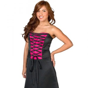 Crna kraća maturska haljina