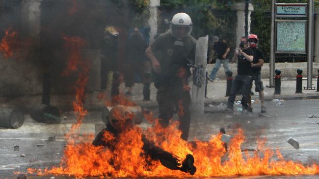 Policija na protestima u Atini