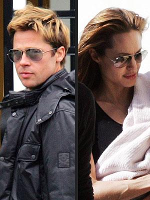 Bred Pit i Anđelina Džoli nose sunčane naočare Ray-Ban