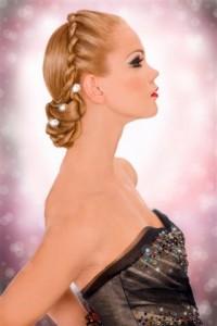 Romantična svečana frizura