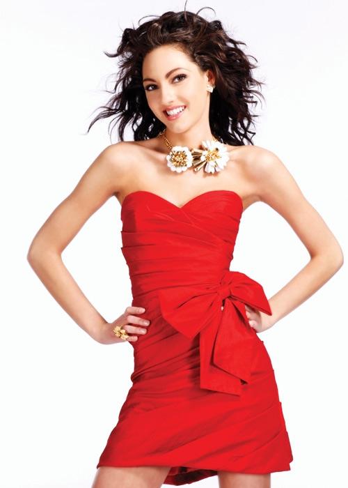 Crvena maturska haljinica